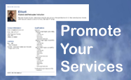 Promote your Services
